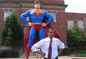 Illustration for article titled The Many Superhero Faces of Barack Obama