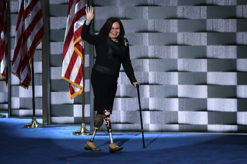 Tammy Duckworth at the Democratic National Convention in Philadelphia on July 28, 2016 (Alex Wong/Getty Images)