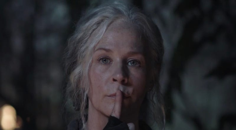 How will Carol silence the Whisperers?