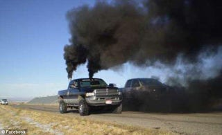 Illustration for article titled Why Your Automotive Subculture Sucks: Rolling Coal Edition