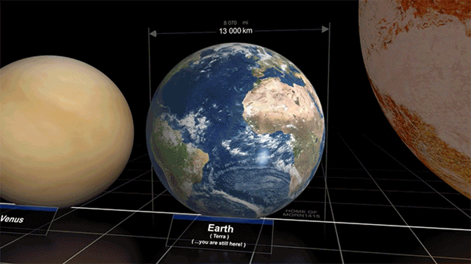 Awesome Video Compares the Size of Different Planets and Stars in the Universe