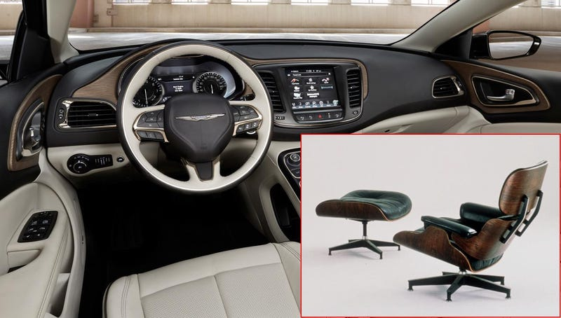 Illustration for article titled The 2015 Chrysler 200's Interior Was Inspired By An Eames Chair