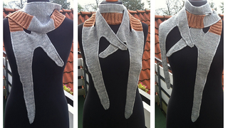 Illustration for article titled This knitted Klingon Bat'leth scarf is Qo'noS high fashion