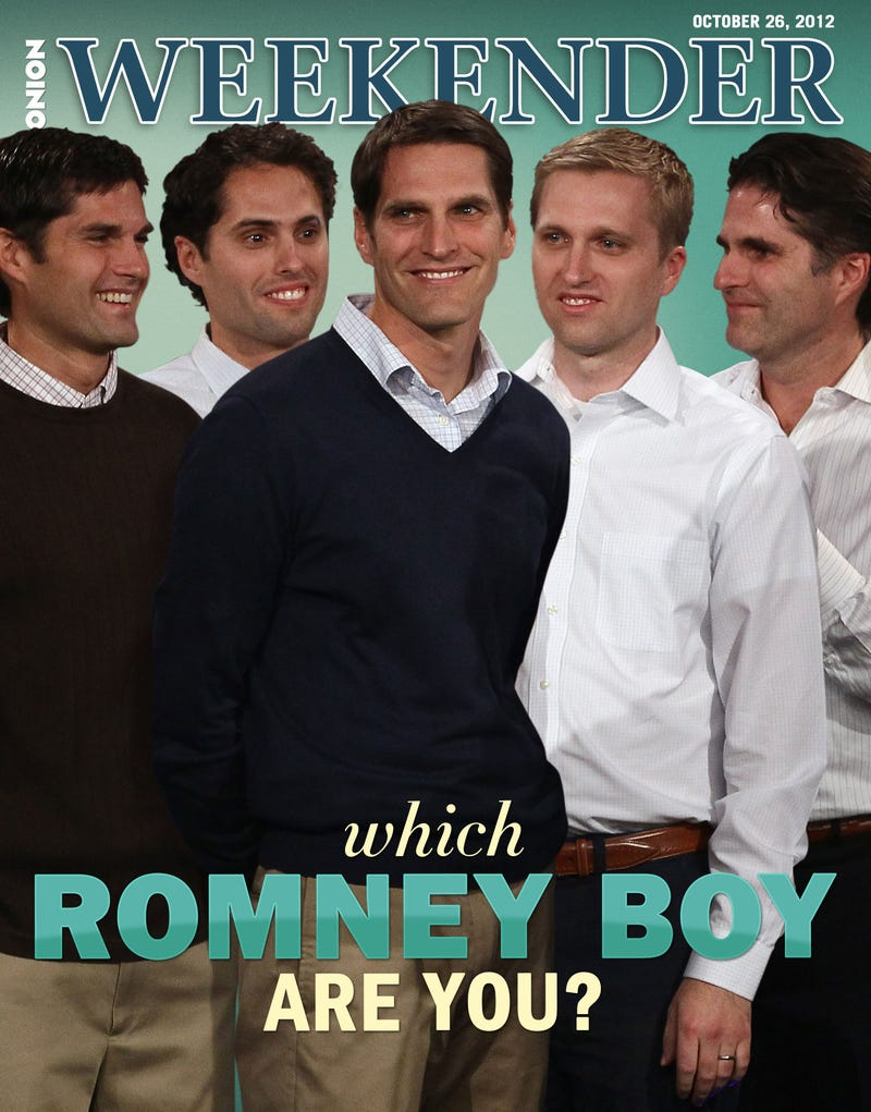 Illustration for article titled Which Romney Boy Are You?