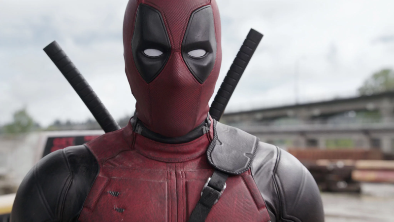 Deadpool making eyes at the camera, probably.