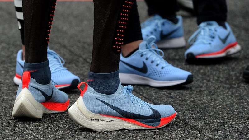 Eliud Kipchoge wearing the Vaporfly 4% on the day he ran a marathon in  2 00 25. Photo by Pier Marco Tacca Getty Images 8d5c2af2d