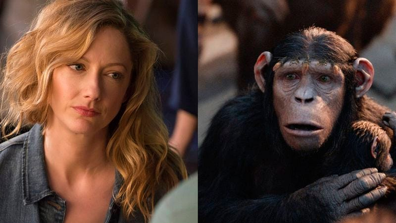 Judy Greer in Married and Dawn Of The Planet Of The Apes