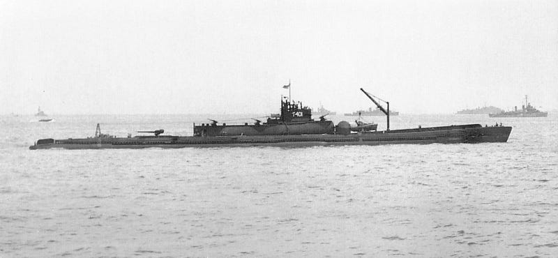 Illustration for article titled Japanese Super-Sub Wreck Found Virtually Intact