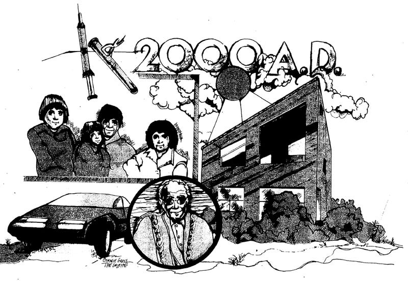 Illustration for article titled Driverless Cars and Eating Dogs: Predictions for Year 2000 from 1980