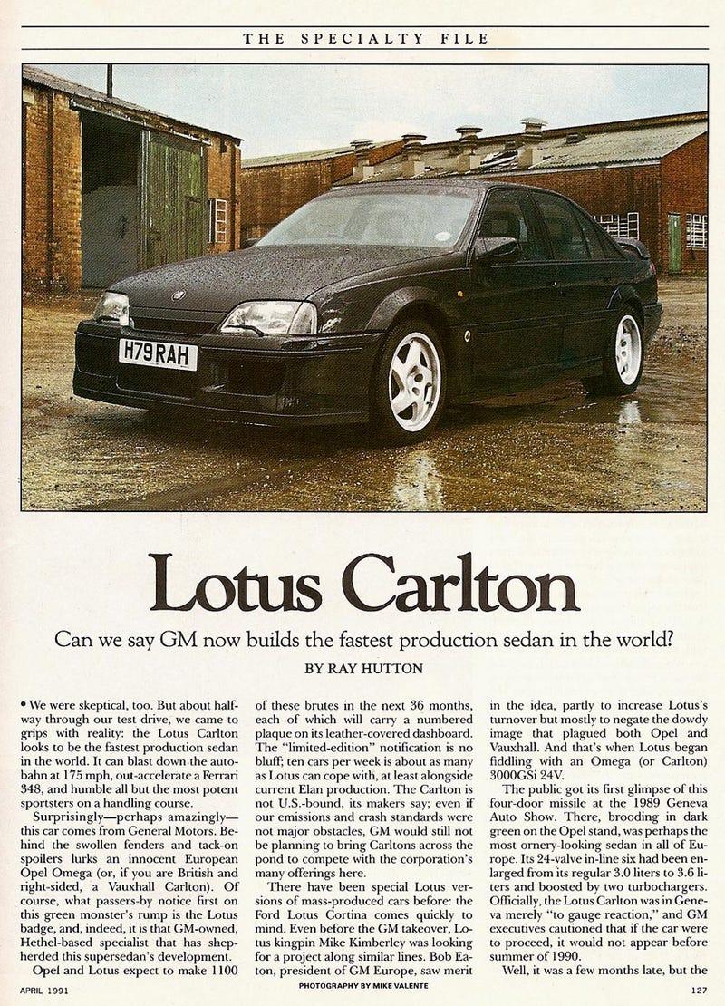lotus omega road test car driver april 1991. Black Bedroom Furniture Sets. Home Design Ideas