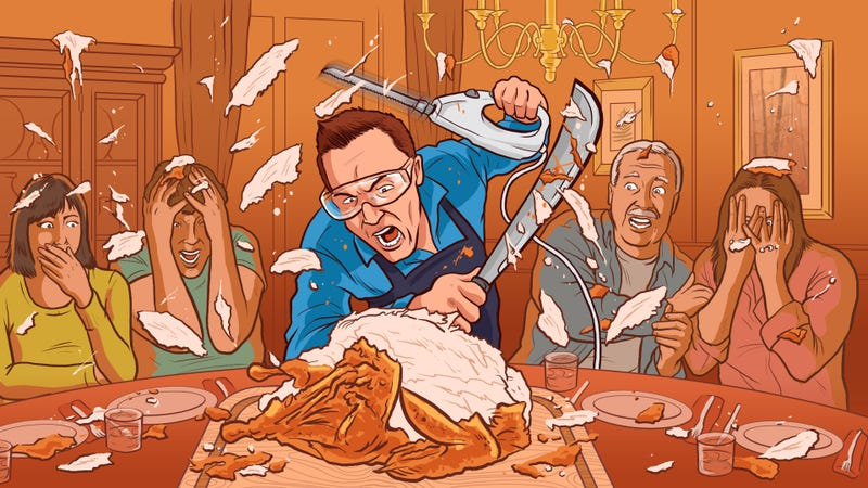 Illustration for article titled How to Be a Meat-Carving Holiday Hero