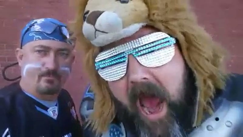 Illustration for article titled Lions Superfan Posts Amazing Video After Being Ejected From Game