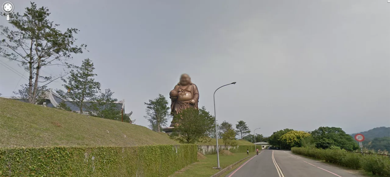 Illustration for article titled Google Street View Is Blurring the Faces of Ancient Gods