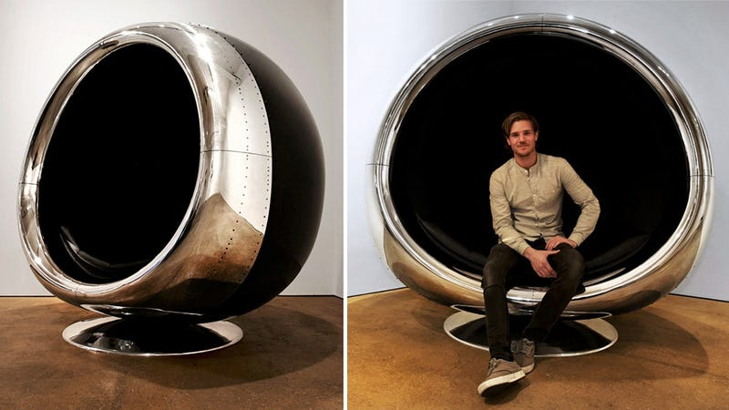 Sitting In A 737 Jet Engine Chair Turns Anyone Into