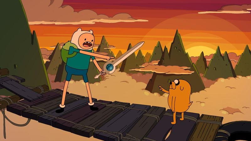 Illustration for article titled Amy Sedaris gets a hold of the Finn Sword in a hilarious Adventure Time