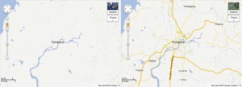 Illustration for article titled Voluntarios online crean los nuevos mapas de Google de Corea del Norte
