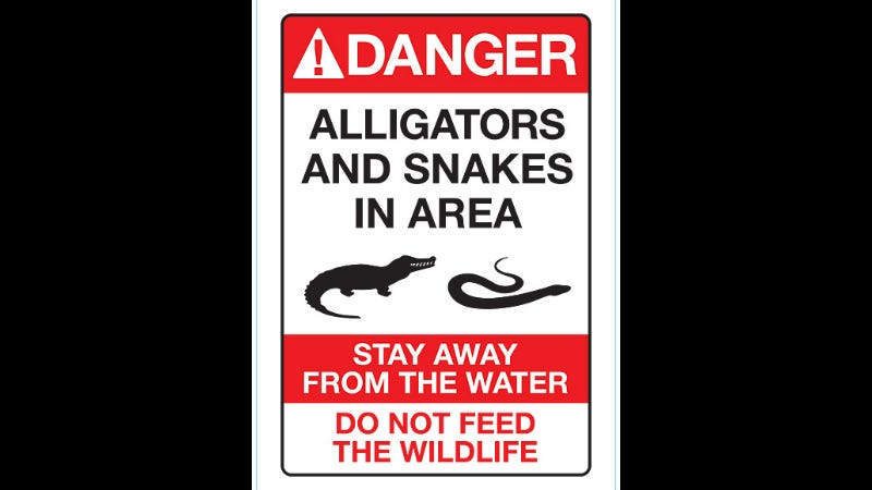 Illustration for article titled Disney World Resort Adds Alligator Warning Signs After 2-Year-Old's Death