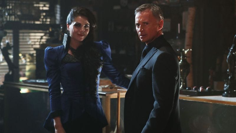 Tales from the dark side: Evil Queen and Rumple (Photo: Disney/ABC)
