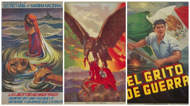 Illustration for article titled 21 carteles de propaganda antinazi hechos en México que recuerdan su participación en la guerra