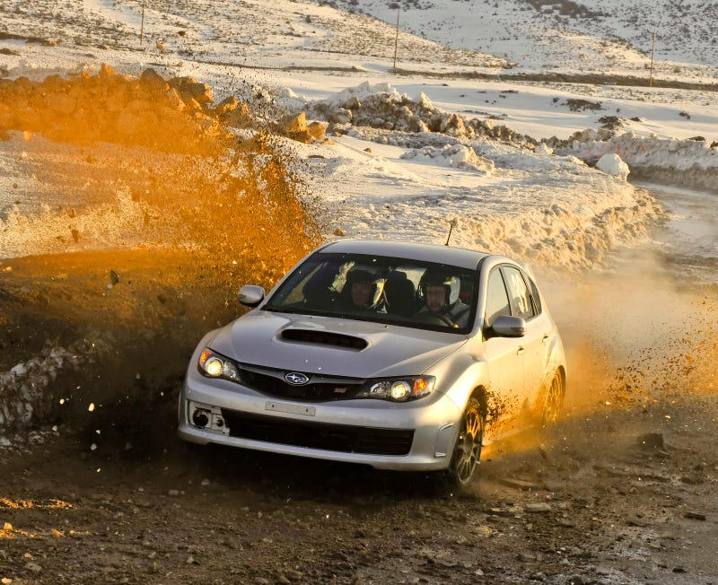 Illustration for article titled Subarus, Mud, And The Fine Art Of Sideways