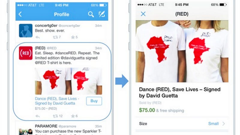 Illustration for article titled Twitter to Enable Your Shopping Addiction With a 'Buy Now' Button