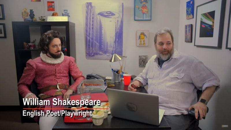 Illustration for article titled Dan Harmon spent a tense afternoon with Thomas Middleditch's Shakespeare