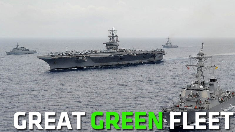 Illustration for article titled Congress Won't Let The Navy Purchase Biofuel For The Great Green Fleet