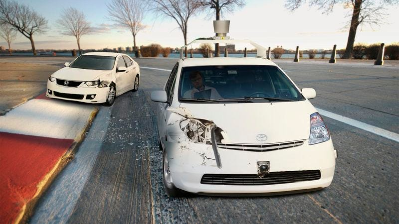 The new autonomous vehicle is able to accelerate from zero to 60 miles per hour within five seconds of sensing the damage it has caused to another automobile.