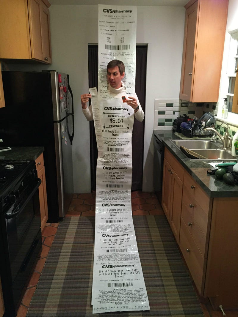 Illustration for article titled CVS Receipt Halloween Costume Just Might Be the Best Idea Ever