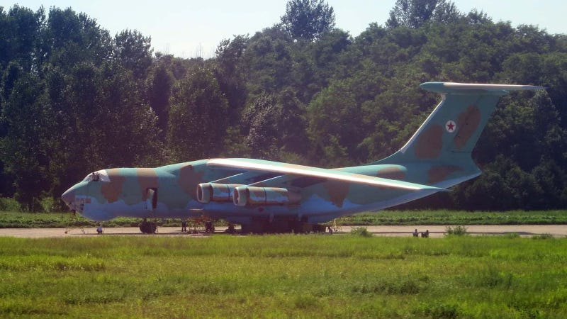 Illustration for article titled Leaked Pics Reveal North Korea's New-Old Military Cargo Plane