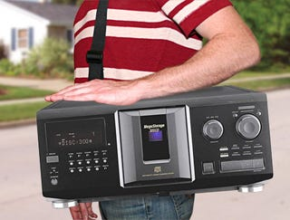 Illustration for article titled Panasonic Introduces Portable 500-Disc Changer To Compete Against iPod