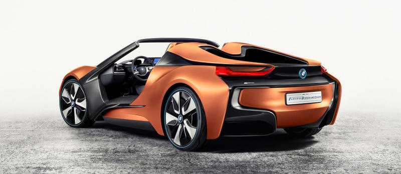 Illustration for article titled This BMW Concept Says No To Doors And Yes To A Huge Gesture-Controlled Screen