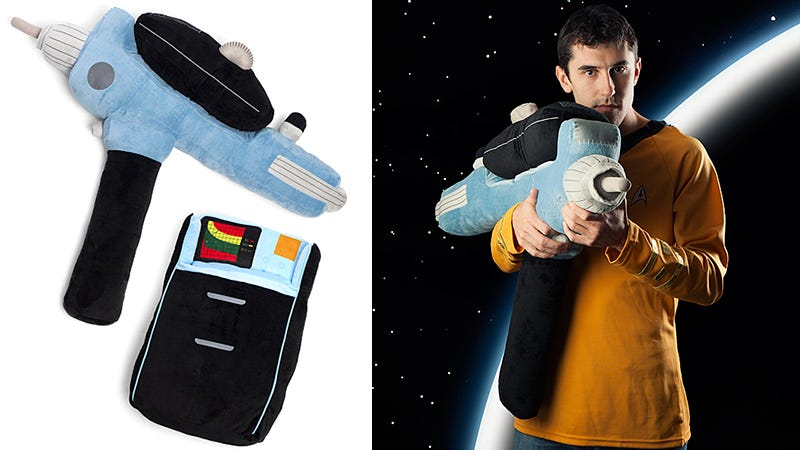 Illustration for article titled Star Trek Phaser and Tricorder Pillows Keep the Aliens Under Your Bed at Bay