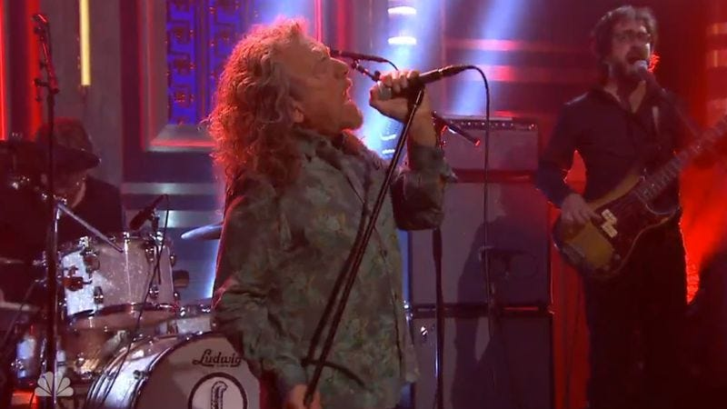 Robert Plant on The Tonight Show With Jimmy Kimmel