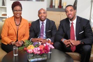 The Root Live host Harriette Cole, Delvin Joyce and Gerard BarrettHarriette Cole Media