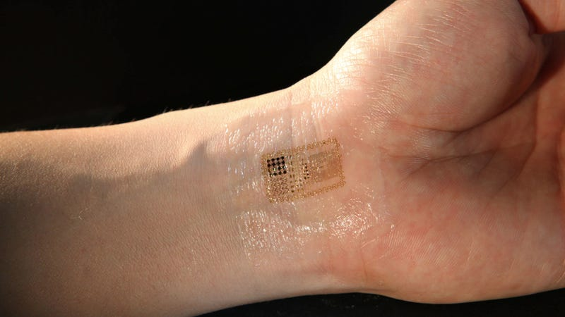 Illustration for article titled Breakthrough: Electronic circuits that are integrated with your skin