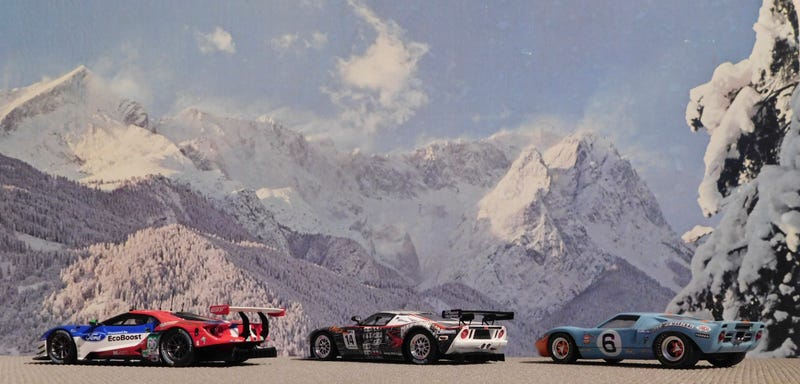 Illustration for article titled 3 Generations of Ford GT Racing...