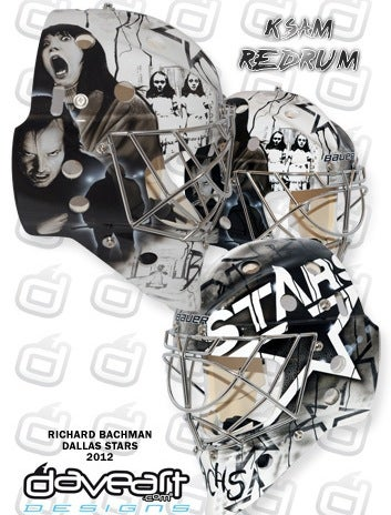 Illustration for article titled Richard Bachman Will Wear A Stephen King-Inspired Goalie Mask