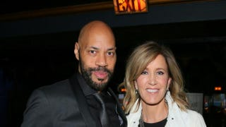 Executive Producer John Ridley and actress Felicity Huffman attend the premiere of ABC's American Crimeat the Ace Hotel Feb. 28, 2015, in Los Angeles. Mark Davis/Getty Images