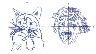 Illustration for article titled These portraits were drawn with mathematical equations