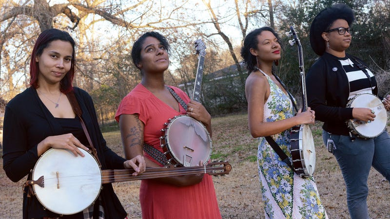 """Rhiannon Giddens, Leyla McCalla, Allison Russell, and Amythyst Kiah form the supergroup """"Our Native Daughters"""""""