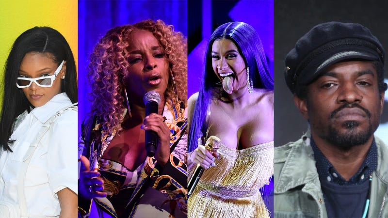 (L-R) Rihanna, Mary J. Blige, Cardi B, Andre 3000