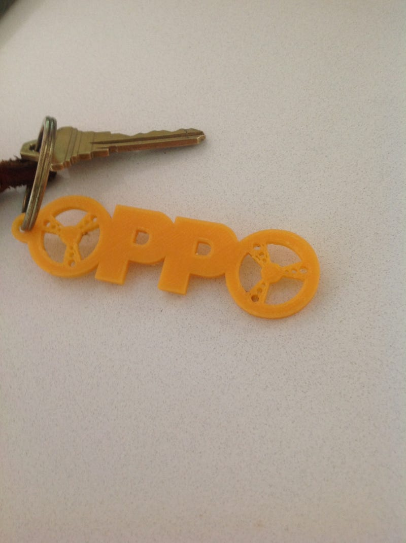 Illustration for article titled Printed some OPPO key chains