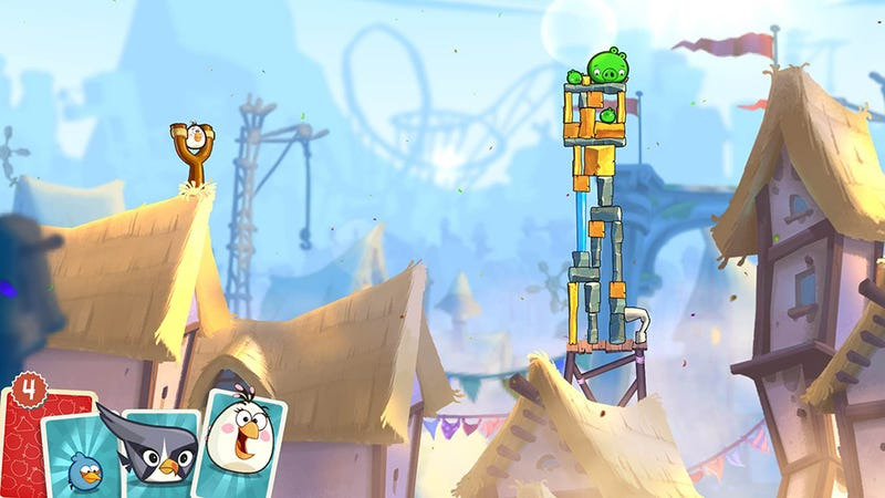 Illustration for article titled Somewhere Underneath Angry Birds 2's Nonsense Is A Solid Game