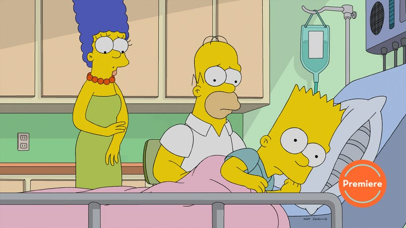 """Illustration for article titled The Simpsons' 30th season takes on faith-based films and assures us """"Bart's Not Dead"""""""