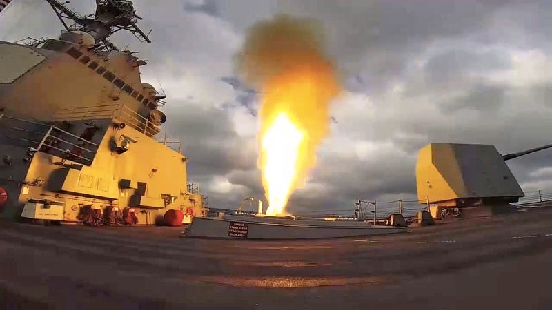 The USS Mason firing a missile in a training exercise this year. (Image: U.S. Navy)