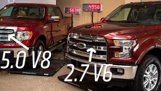 the 39 732 lbs lighter 39 2015 ford f 150 v6 was weighed against a 2014 v8. Black Bedroom Furniture Sets. Home Design Ideas