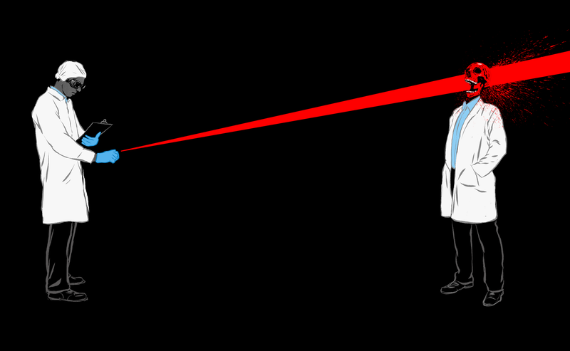 Illustration for article titled How Many Laser Pointers Would It Take to Kill a Human?