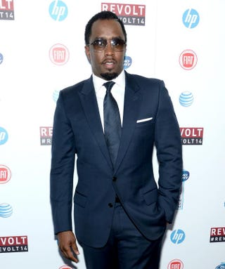 Sean 'Puff Daddy' Combs attends Revolt TV's first upfront presentation on April 22, 2014, at Marquee in New York City.Dimitrios Kambouris/Getty Images for Revolt TV