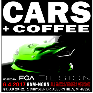 Illustration for article titled FCA headquarters cars and coffee this Sunday.
